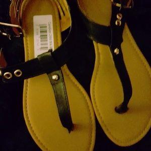 Black Stuffed Sandals